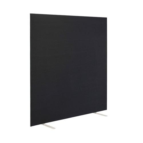 First Floor Standing Screen 1600x25x1200mm Black KF90975