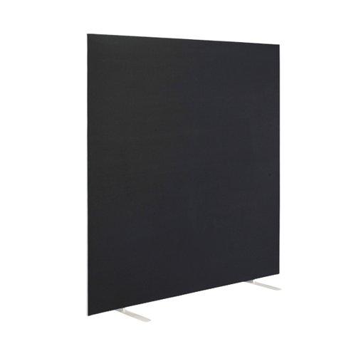 First Floor Standing Screen 1600x25x1800mm Black KF90979
