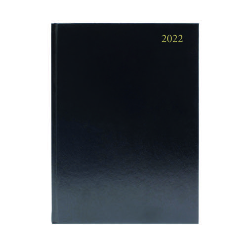 Desk Diary 2 Pages Per Day A4 Black 2022 KF2A4BK22