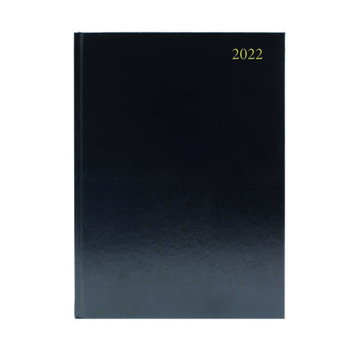 Desk Diary Day Per Page A4 Black 2022 KFA41BK22