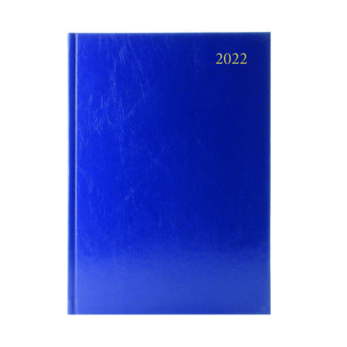 Desk Diary Day Per Page A4 Blue 2022 KFA41BU22