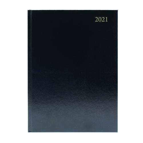 Desk Diary Week to View A4 Black 2021 KFA43BK21