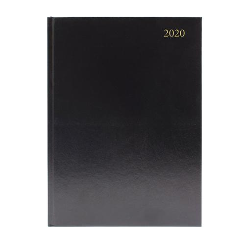 Desk Diary A5 Day Per Page Appointment 2020 Black KFA51ABK20