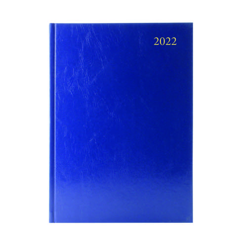 Desk Diary Day Per Page Appointments A5 Blue 2022 KFA51ABU22