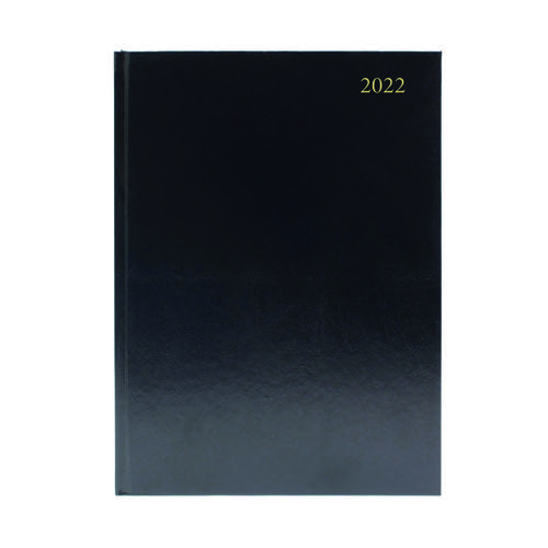 Desk Diary 2 Days Per Page A5 Black 2022 KFA52BK22