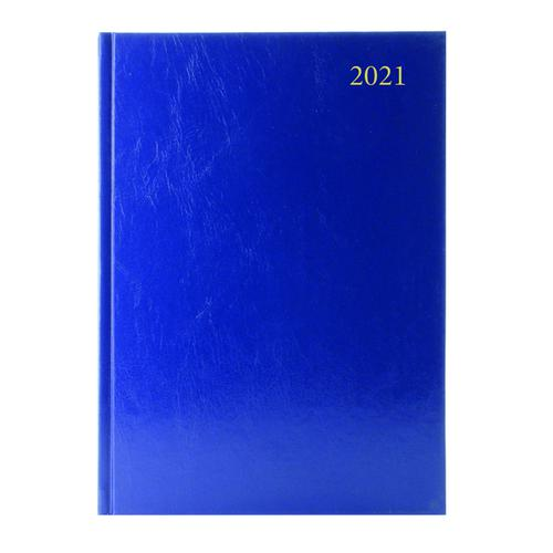 Desk Diary 2 Days Per Page A5 Blue 2021 KFA52BU21