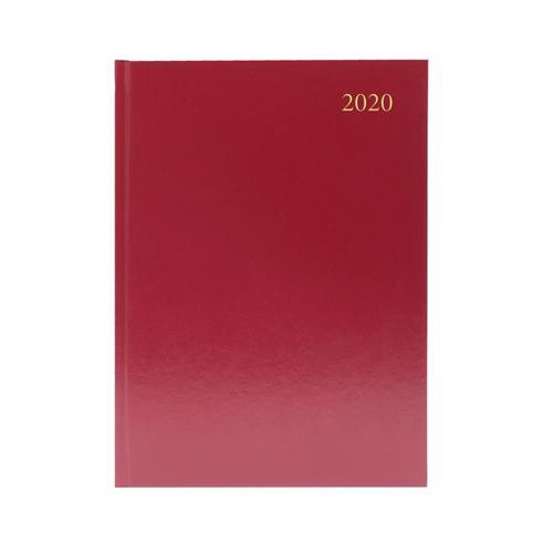 Desk Diary A5 Week to View 2020 Burgundy KFA53BG20