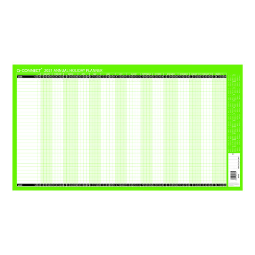 Q-Connect Holiday Planner Unmounted 754 x 410mm 2021 KFAHP21