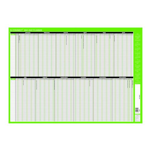 Q-Connect Day Planner Unmounted 855 x 610mm 2021 KFDPU21