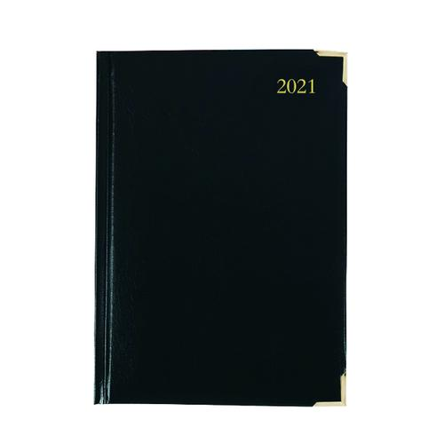 Executive Diary Day Per Page A4 Black 2021 KFEA41BK21