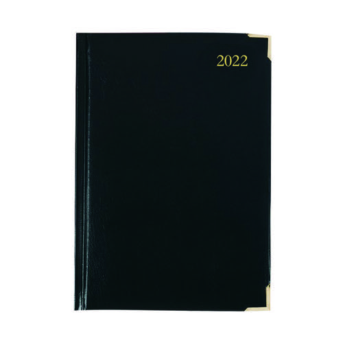 Executive Diary Day Per Page A4 Black 2022 KFEA41BK22