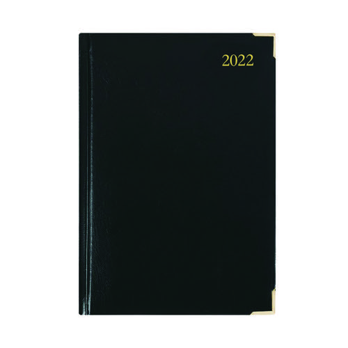 Executive Diary Day Per Page A5 Black 2022 KFEA51BK22
