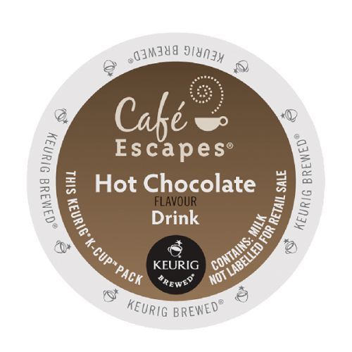 Keurig Cafe Escapes Hot Chocolate Flavour Drink Pods (Pack of 24) 93-070201