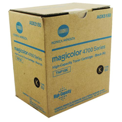 Konica Minolta Magicolor 4750En/Dn High Capacity 6K Black Laser Toner Cartridge A0X5150