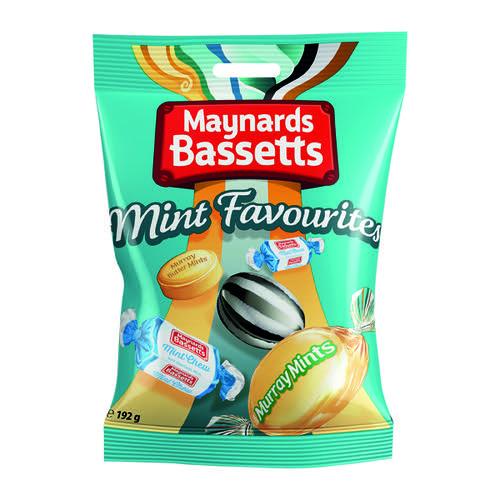 Maynards Bassetts Mint Favourites 192g (Pack of 12) 4021645