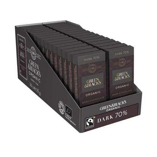 Green & Blacks 35g Dark Chocolate (Pack of 30) 611635
