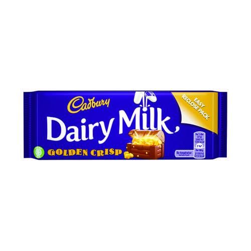 Cadbury Dairy Milk Golden Crisp 54g (Pack of 48) 654210