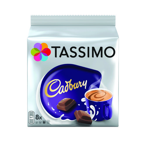 Tassimo Cadbury Hot Chocolate 8x 240g Capsules [Pack 5] 131270