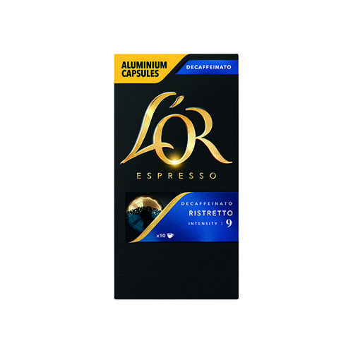 L'Or Nespresso Decaff Ristretto Capsule (Pack of 10) 4028615
