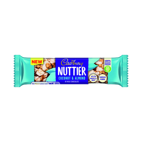 Cadbury Nuttier Coconut/Almond Chocolate 40g (Pack of 15) 4259100