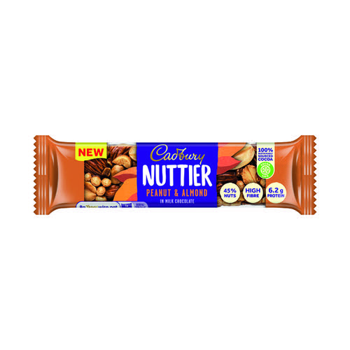 Cadbury Nuttier Peanut/Almond Chocolate 40g (Pack of 15) 4260510