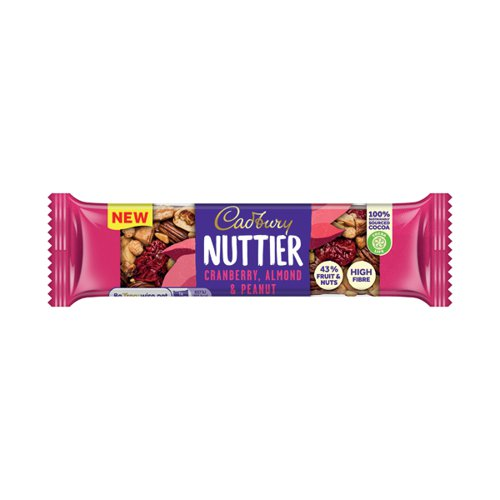 Cadbury Nuttier Cranberry/Almond Chocolate 40g (Pack of 15) 4260511