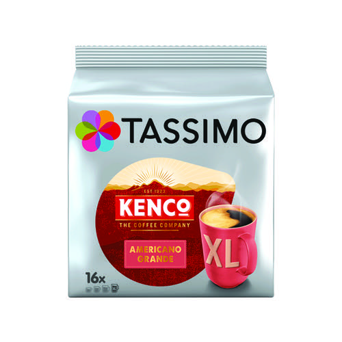 Tassimo Kenco Americano Grande Coffee 144g Capsules (5 Packs of 16) 7040471