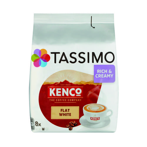 Tassimo Kenco Flat White Pods (Pack of 8) 4051498