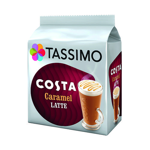 Tassimo Costa Caramel Latte Coffee Pods (Pack of 40) 4031637