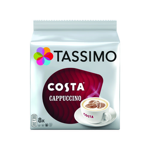 Tassimo Costa Cappuccino Coffee 280g Capsules (5 Packs of 8) 4031503