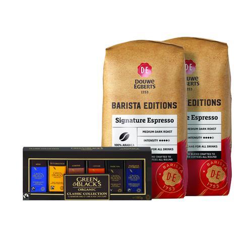 Buy 2 Douwe Egberts Signature Espresso Beans 1kg FOC Green and Blacks Miniatures
