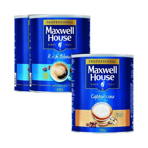 Maxwell House Granules 750g Buy 2 Get FOC Cappuccino 750g KS818962