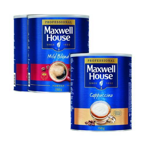Maxwell House Powder 750g Buy 2 Get FOC Cappuccino 750g KS818963