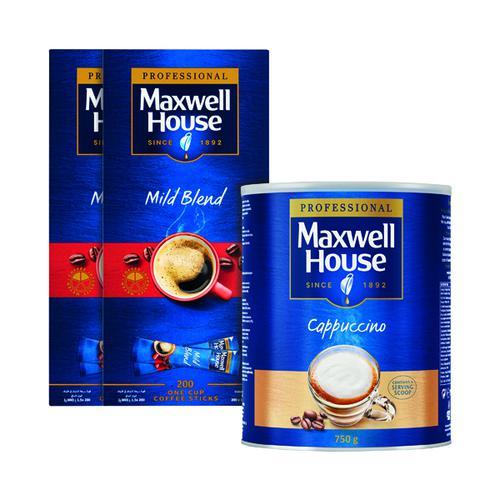 Maxwell House Mild Sticks Pk200 Buy 2 FOC Cappuccino 750g KS818964