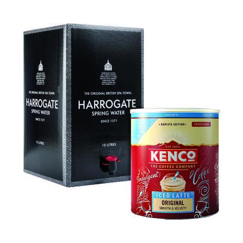 Buy Kenco Instant Iced Latte Original Tin 1.2kg FOC Water Bag In A Box 10 Litre