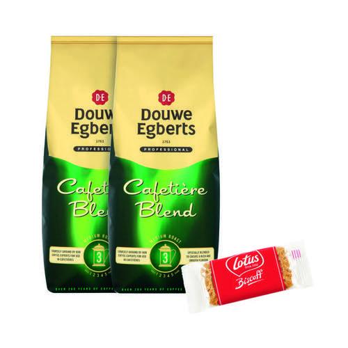 Douwe Egberts Cafetiere Blend Coffee 1kg Buy 2 Get FOC Lotus Biscuits