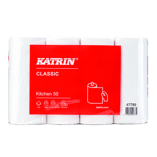 Katrin Classic Kitchen Roll 50 Sheet (Pack of 32) 47789