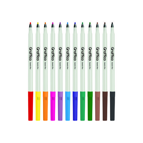 Graffico Slim Colouring Pen Assorted (Pack of 576) 6101/576