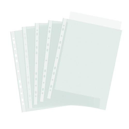 Lightweight Multi Punched Pockets Top-opening A4 Clear/Embossed [Pack 100]