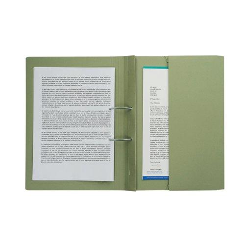 Pocket Spiral Files 285gsm Foolscap Green (Pack of 25) TPFM-GRNZ