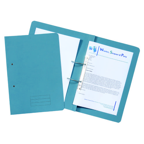 Spiral Files 285gsm Foolscap Blue (Pack of 50) TFM50-BLUZ