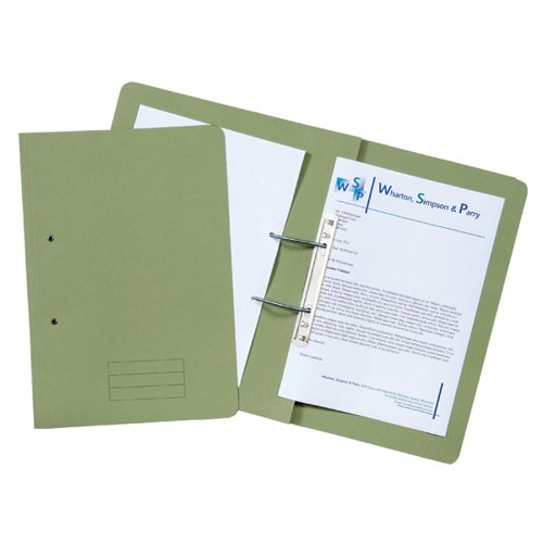 Spiral Files 285gsm Foolscap Green (Pack of 50) TFM50-GRNZ