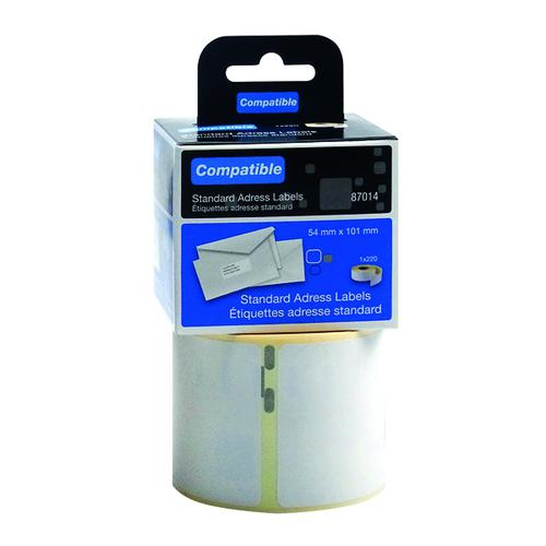 Compatible DYMO Shipping Label 54 x 101mm (Pack of 220) LL87014