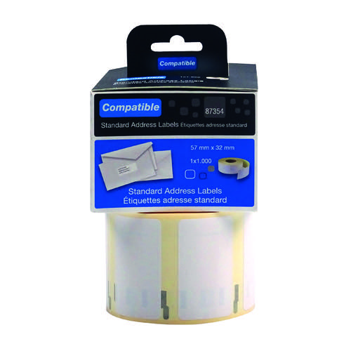 Compatible DYMO Multipurpose Label 57 x 32mm (Pack of 1000) LL87454