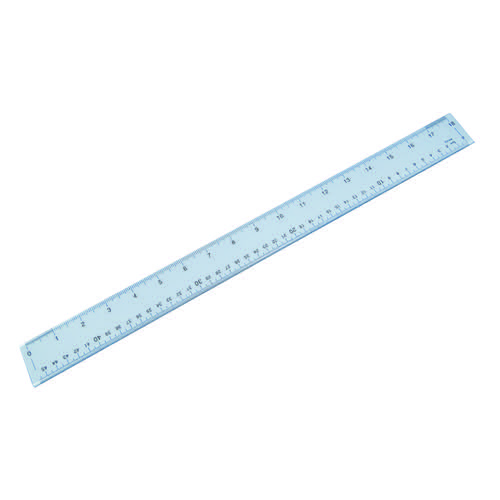 Plastic Shatter Resistant Ruler 50cm Clear 843800/1 Rulers LL91791