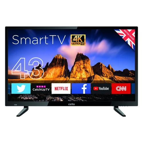 Cello 43in 4K Smart Ultra HD LED TV C43RTS4K