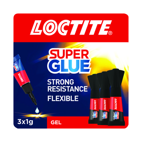 Loctite Mini Trio Power Gel Super Glue 3x1g 2642101