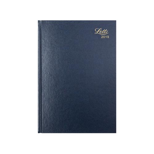 Letts Business Diary A5 Week to View 2019 Blue 19-T31XBL