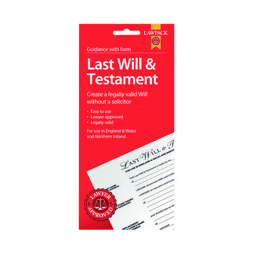 Law Pack Last Will And Testament Pack (Pack of 5) F320