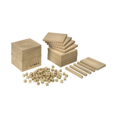 Linex 121 Pcs. Base Ten Set Recycled-Wood 400065105